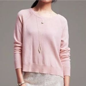 Banana Republic Pink Crewneck Lightweight Sweater